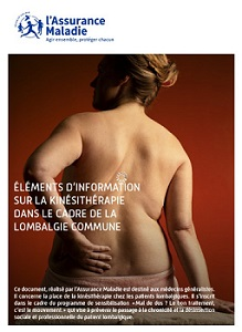 Première page de la brochure médecin lombalgie