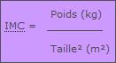 Schéma : formule de calcul de l'indice de masse corporelle (IMC)