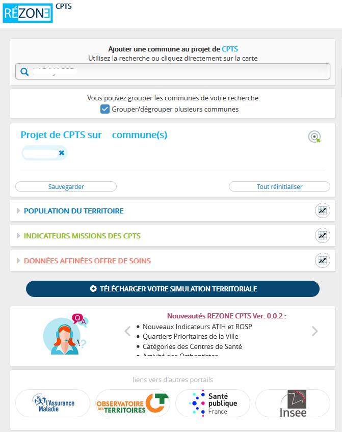 Page du site Rezone CPTS