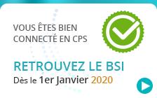 """Capture d'écran du service amelipro : """"Vous êtes bien connecté en CPS. Retrouvez le BSI dès le 1er janvier 2020."""""""