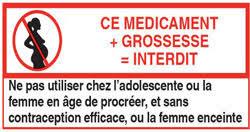 Pictogramme précisant une contre-indication du médicament en cas de grossesse