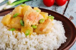 Photo recette : Poulet à l'ananas