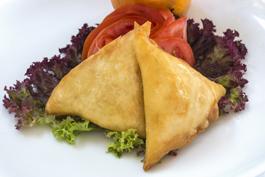 Photo recette : Samoussas poulet - champignons - poireau