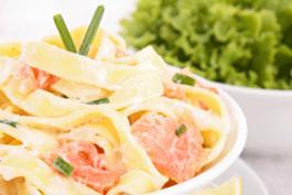 Photo recette : Tagliatelles au saumon