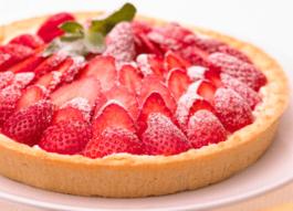 Photo recette : Tarte aux fraises