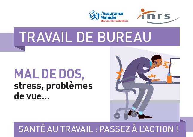 Affiche présentant les solutions contre le mal de dos pour l'entreprise et les salariés