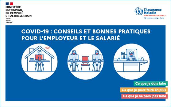 Protocole sanitaire en entreprise - guide pratique pour l'employeur et le salarié - Covid 19